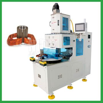 Vertical type automatic stator coil winder