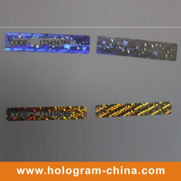 O Holograma Personalizado Hologram Scratch Off Label Sticker