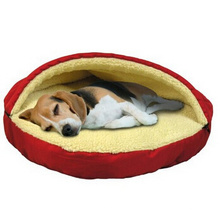 Pet Line Parade Cave Bed for Dogs and Cats, 25-Inches