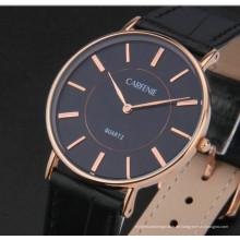 Mode Edelstahl minimalistische ultra dünne Uhr