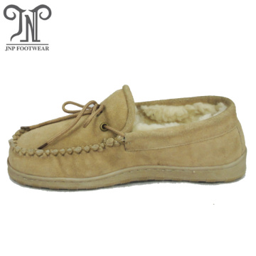 Best sheepskin moccasin warm winter men slippers