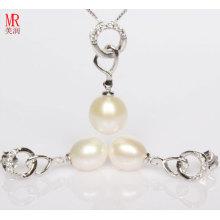 925 Silber Liebes Perle Geschenk Set