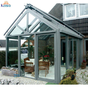 Flat Roof 4 Season Veranda Material Glass House Sunroom