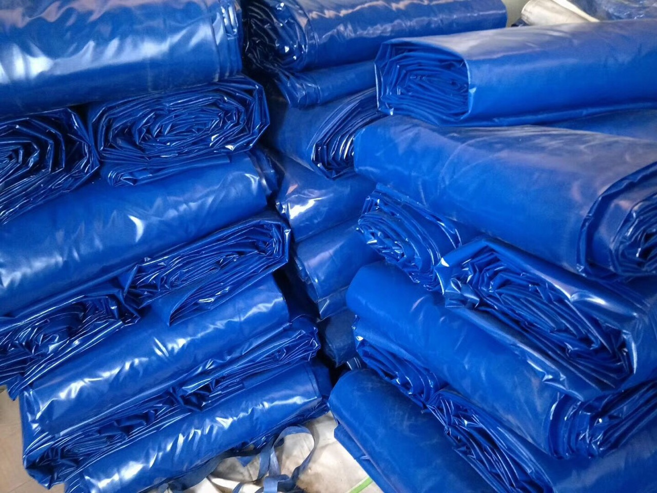 blue pvc tarpaulin packing