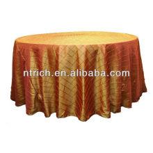 Linge de table rond/carré or pintuck mariage taffetas