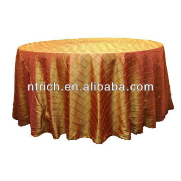 Gold pintuck taffeta wedding round/square table cloth