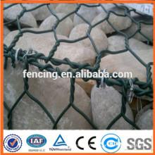 покрынная PVC Коробка gabion провода клетке каменной стеной