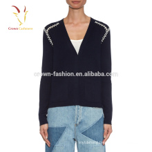 Luxury Cashmere Crewneck Knitted Girl Sweaters