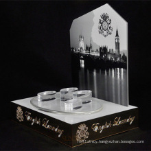 White Advertising Acrylic Display Stand, Luxury Retail Store Counters