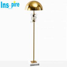 Modern marble base floor light metal ed floor lamp for living room