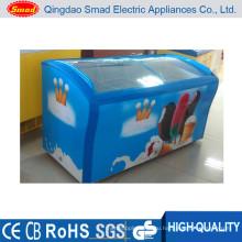 518L мороженое Дисплей морозильник ларь для супермаркета