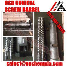 Tornillo de acero inoxidable 80/156 para cilindro extrusor de doble husillo cónico