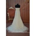 EN STOCK Vestido de novia del vestido de bola del Apagado-El-Hombro Vestido nupcial del piso-longitud SW07