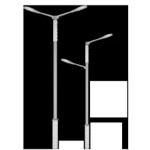 Precio barato de acero inoxidable directo 4m 5m 6m 7m 8m 9m 10m poste de luz de calle de acero