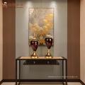 2017 Florero de cristal retro decorativo del nuevo diseño para la decoración casera