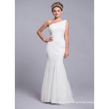 Одно Плечо Реальный Образец Платье Невесты