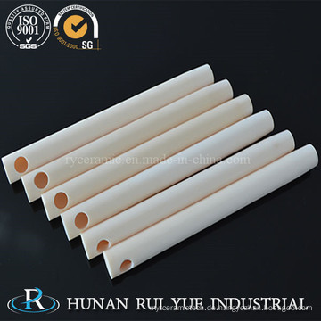 China-Waren Großhandels-99% hohe Tonerde-keramische Rohre mit Löchern