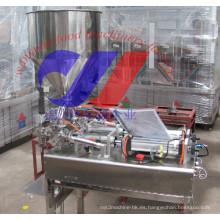 Máquina de llenado semiautomática de doble cabezal