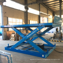 stationary warehouse cargo hydraulic scissor lift elevator