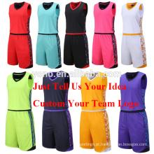 Conjunto de jersey de basquete de alta qualidade novo modelo em branco conjunto uniforme de futebol por atacado