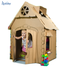 Easy To Assemble Durable Portable Cardboard Playhouse For Kids