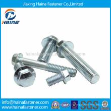 Stock Steel JIS B 1198 Boulons à brides hexagonales chromées au zinc