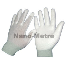 NMSAFETY PU recubiertos con guantes de palma esd