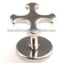 Cross never fade Stainless steel fashion for women,men,unisex stud charm earrings jewellery