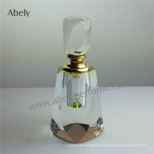 Bouteille d'huile en bouteille de parfum en cristal 2015 avec bouchon en verre