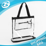 Simple Style Customized Clear Promotional PVC Holiday Beach Tote Bag