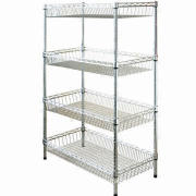 Wire Metal Rack with 1.2mm Upright Thickness