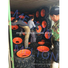 china pneu fábrica 14-17.5 15-19,5 bobcat pneu com aro