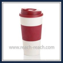 Двойная стенка PP пластиковые кофе кружка