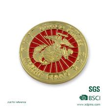 Moeda macia chapeada ouro da lembrança do esmalte do logotipo 3D para o presente da promoção