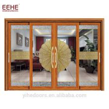 Balcon coloré porte coulissante en verre porte en aluminium meilleur prix