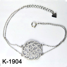Micro Pave CZ 925 Sterling Silver Jewellery Bangles (K-1904. JPG)
