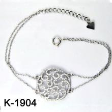 Micro Pave CZ 925 pulseiras de jóias de prata esterlina (K-1904 JPG)