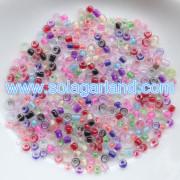 Dekorativa klart glas färg fodrad utsäde pärlor Spacer Glas Pärlor