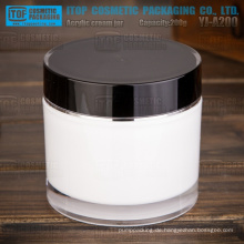 YJ-A200 200g schwarz-weiß Doppelschichten Zylinder runden großen und schweren 200g Acryl Glas