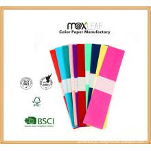 50 * 250cm DIY Papel de crepe de cor artesanal, flores coloridas de papel Crepe, Crepe Paper Factory Price
