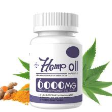 Organic Plant extract Hemp seed oil omega 3 capsules softgel