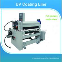 Máquina de pulverización de recubrimiento UV / Línea de recubrimiento uv de los paneles de pavimentación / Máquina de recubrimiento uv de alto brillo