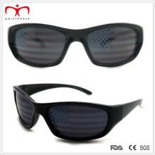 Мужские спортивные солнцезащитные очки с флаговым дизайном на объективе (WSP508262)