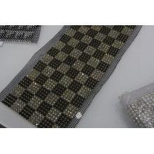Most popular pearl and rhinestone row banding