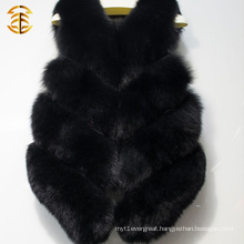 Black Colour Luxury European Design Genuine Fox Fur Vest