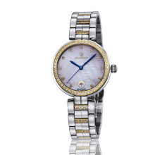 Neue Art- und Weisediamant-Quarz-Edelstahl-Damen-Armbanduhr