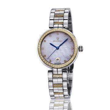 New Fashion Diamond Quartz Stainless Steel Ladies Wrist Watch