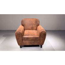 Mid century home furniture upholstered one seat sofa vintage leather armchair