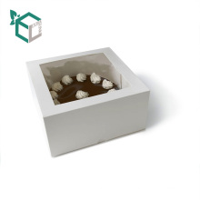 Extra Link OEM Karton Karton Geschenk Kuchen Box Verpackung mit klaren PVC-Fenster