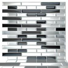 Smart mosaic self-adhesive vinyl peel stick wall tile